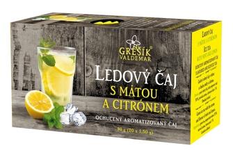 Ledový čaj s mátou a citrónem